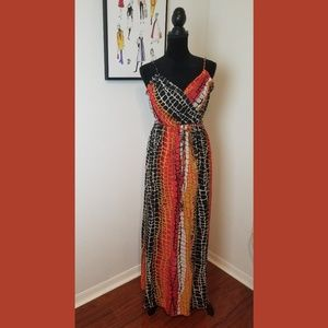 NWT Boston Proper Muse Snakeskin Maxi Dress Sz 0